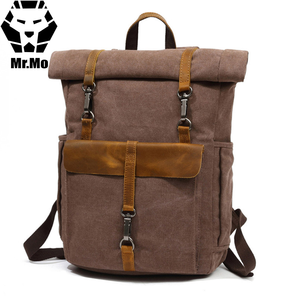 New Canvas Bag Pack Rucksack For Men 14 inch Laptop Bags Large Travel Backpack Mochila Teenager College Student School Bookbag стоимость