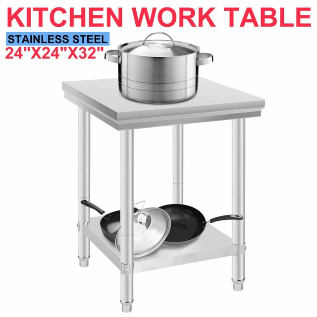 Stainless Steel Commercial Kitchen Work Food Prep Table 24\