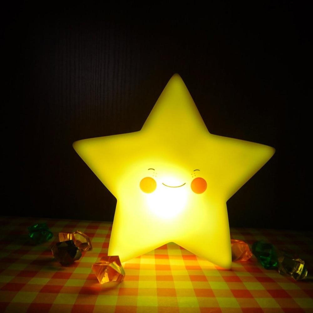 LED Star Night Light Luminaria Decorative Children Table Mini Portable Baby Lights Moon  ...