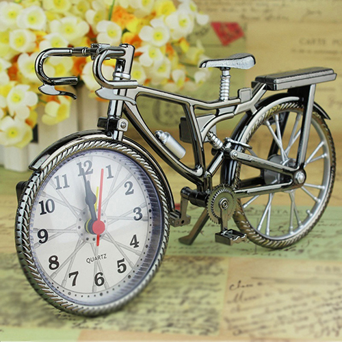 っvintage Arabo Numeri Forma Biciclette Creativo Table Alarm Clock