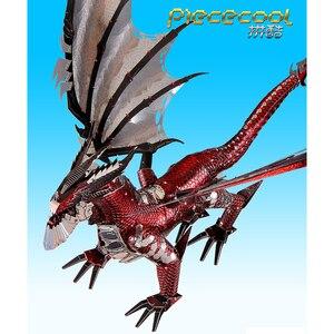Image 3 - 2019 piececool 3d metal puzzle o dragão preto modelo diy corte a laser montar jigsaw brinquedo desktop decoração presente para auditoria crianças