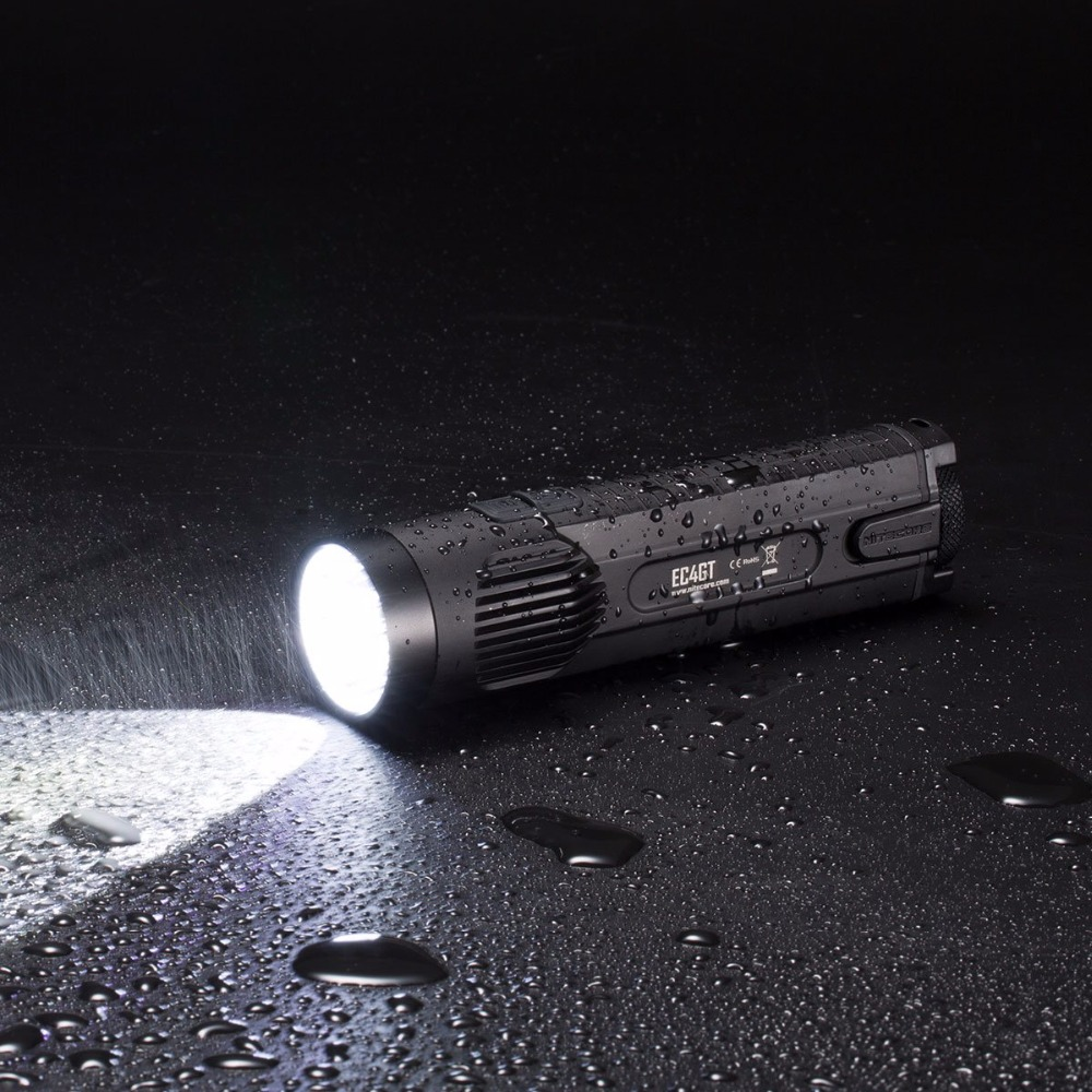 Top Sales NITECORE EC4GT Handy Portable 1000 LMs Emitter Flashlight Searchlight Hunting Camp Torch Without Battery Free Shipping - 4