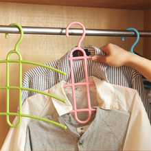 1pc 34*37cm Multifunctional 4 Colors Three Layer Anti-skid Plastic Clothes Hanger Rack Wardrobe Wet And Dry Drying Hanger(China)