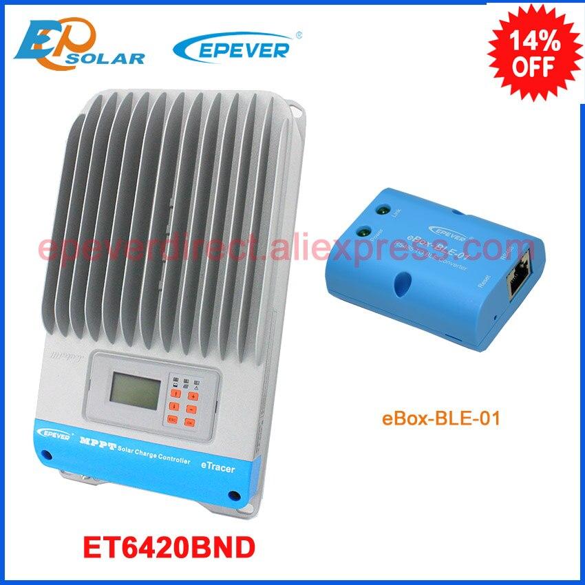 Controller 48v 60A 60amp mppt EPsolar EPEVER solar tracer charging regulator ble box APP use ET6420BND lcd display