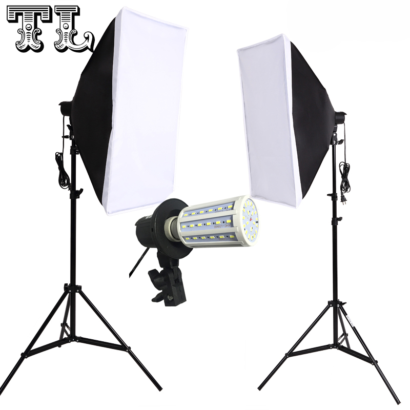 Light-Diffuse-Kit Bulbs Softbox-Kit Photo-Video-Lighting 2PCS 24W E27 LED