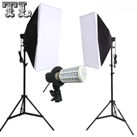 2PCS 9W LED FREE Single Lamp Softbox Photo Light Softbox Set Photographic Equipment Photo Studio Light