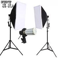 2PCS 9W LED FREE Single Lamp Softbox Photo Light Softbox Set Photographic Equipment Photo Studio Light