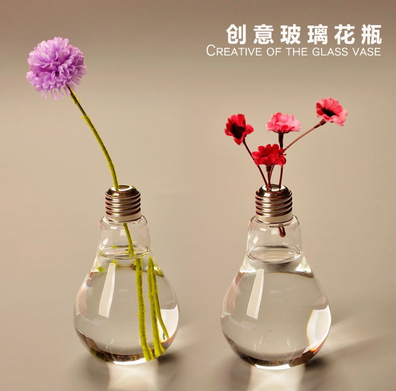 Free Shipping Hanging Glass Light Bubble Round Pots Flower Vases
