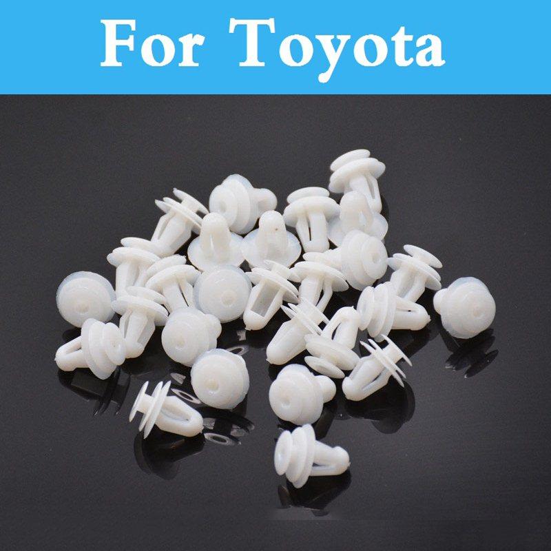 100 pcs De Voiture Porte Push Clip Blanc Doublé Couverture Rivet Attaches Pour Toyota Aurion Avalon Venza Allex Allion Altezza Auris 4 coureur