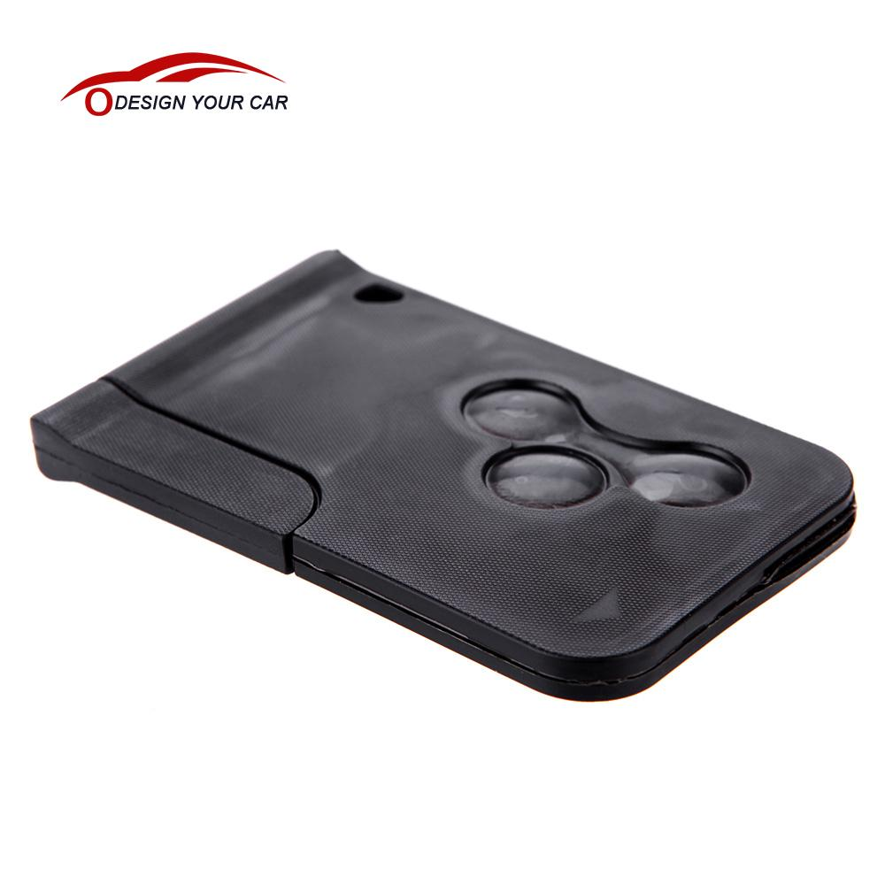 imágenes para Nueva Llave del coche Reaplacement Tarjeta de Controlador de sistema de alarma de coche de Control Remoto con la Hoja En Blanco para Renault Megane Scenic 2003-2008