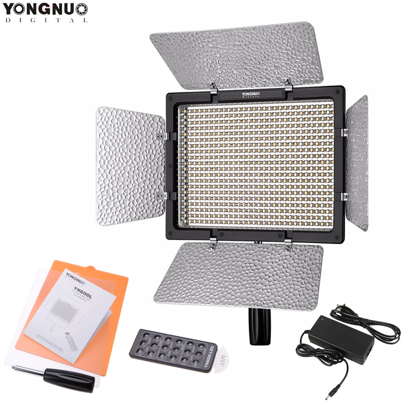 Yongnuo YN 600L LED Studio Video Light 3200k 5500k and 5500K Lamp Color Temperature for Canon