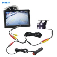 DIYKIT 5 inch 800 x 480 HD Car Monitor Waterproof Reverse LED Night Vision Backup Rear View Car Camera with Monitor
