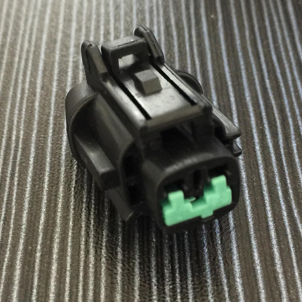 Black 2pins car waterproof auto connectors (green clip) female, including terminals and seal waterproof plugging