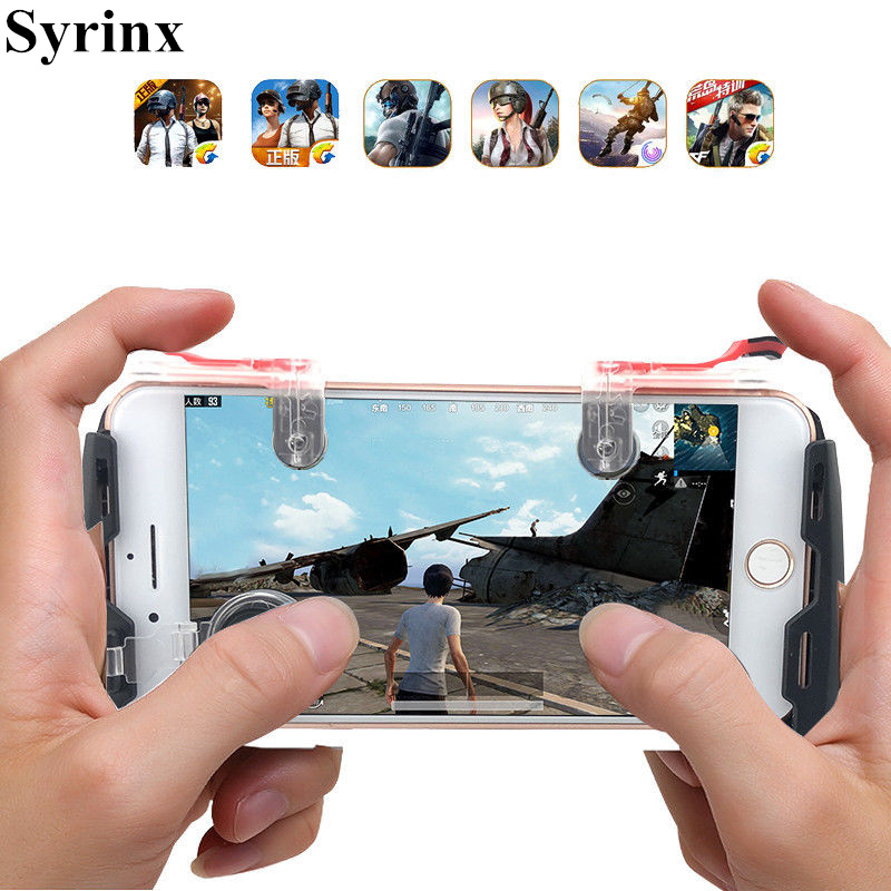 Holder Handle For Pubg Game Gamepad Mobile Phone Game Controller L1r1 Shooter Trigger Fire Button For IPhone X 6S For Knives Out