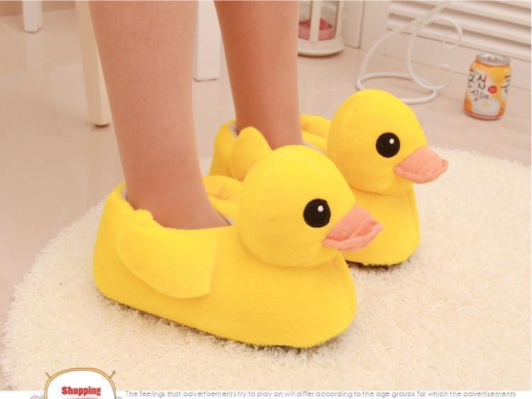 Duck Bots Men And Women Unisex Cute House Stuffed Animal Slippers