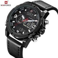 NAVIFORCE мужские часы модные повседневное Спорт черный кожаный мужской часы человек армия военная Униформа кварцевые наручные часы Relogio Masculino