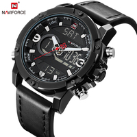 NAVIFORCE Fashion Casual Sport Men S Watch Famous Led Display Date Clock Digital Army Military Wrist