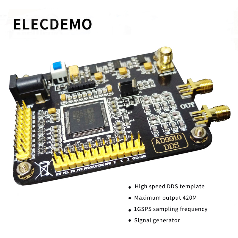 AD9910 Module DDS Module DAC 420M Output 1GSPS Sampling Rate Frequency Signal Generator Module Function demo board