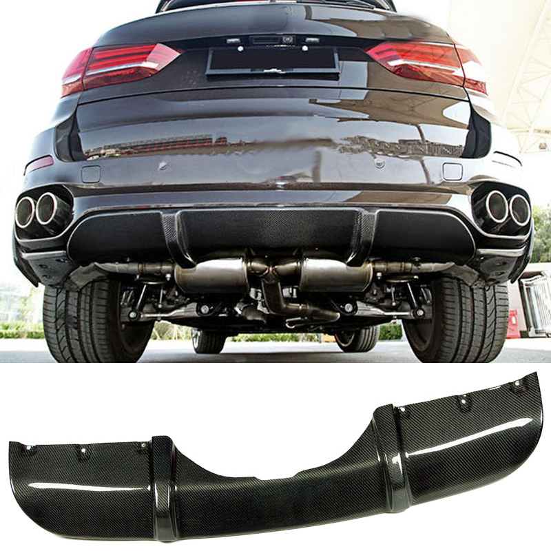 P Style Carbon fiber Rear Diffuser Fit For BMW F15 X5 M-Sport f15 x5 carbon fiber bodykit for bmw f15 x5 m tech m sport bumper body kit rear diffuser