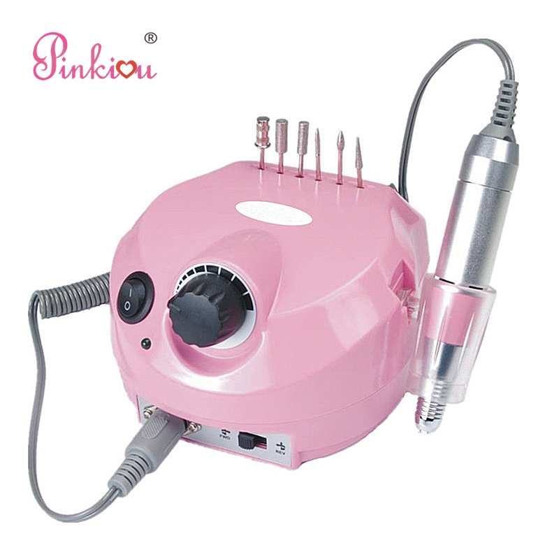 Pinkiou Electric Nail Drilling Set Cutter For Manicure With Nail File Bits Pen Holder For Nails Art stylish 24 pcs smile expression pattern nail art false nails