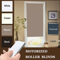 2017 Free shipping New Smart Home WIFI Available Motorized Blackout Roller blinds with Dooya Motor DM35R