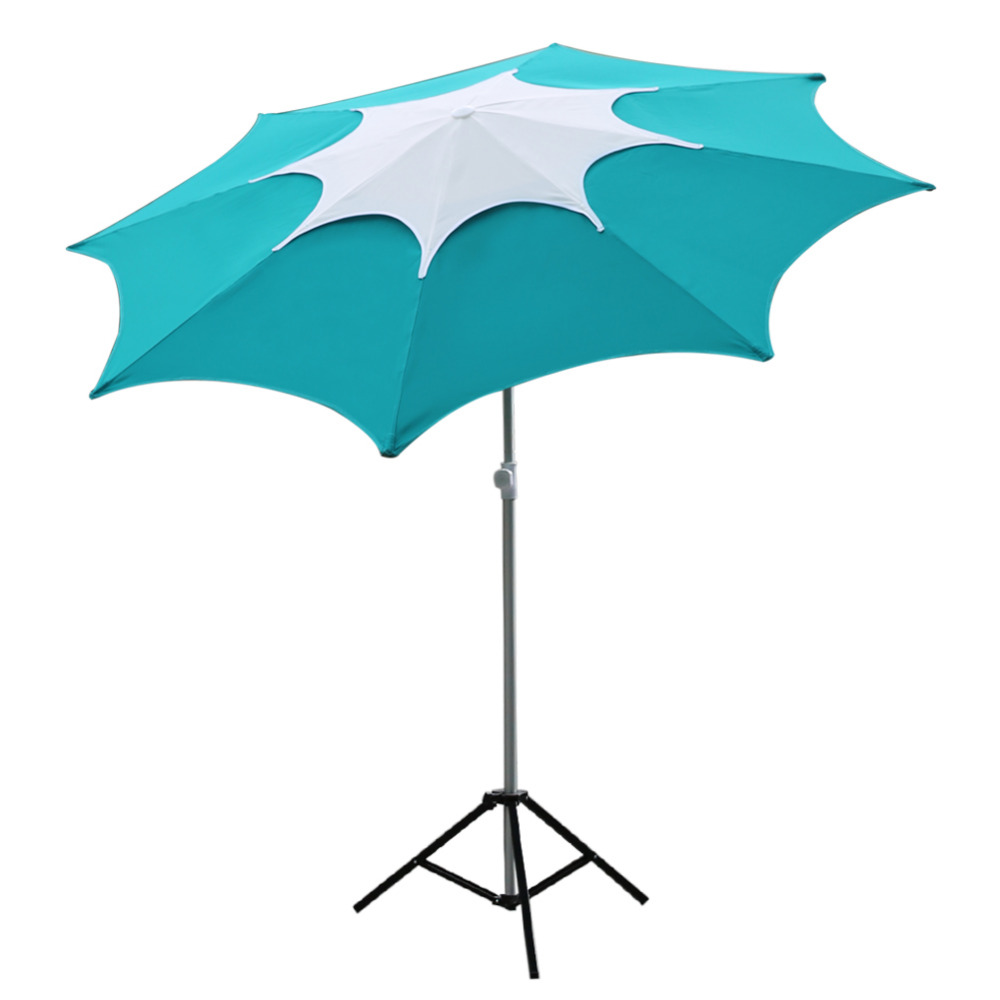 Abba Patio 7-1/2-Feet Fiberglass Rib Beach Patio Aluminum Umbrella with 2 Sand Anchors and Push Button Tilt Turquoise abba abbaagnetha faltskog agnetha faltskog vol 2 180 gr