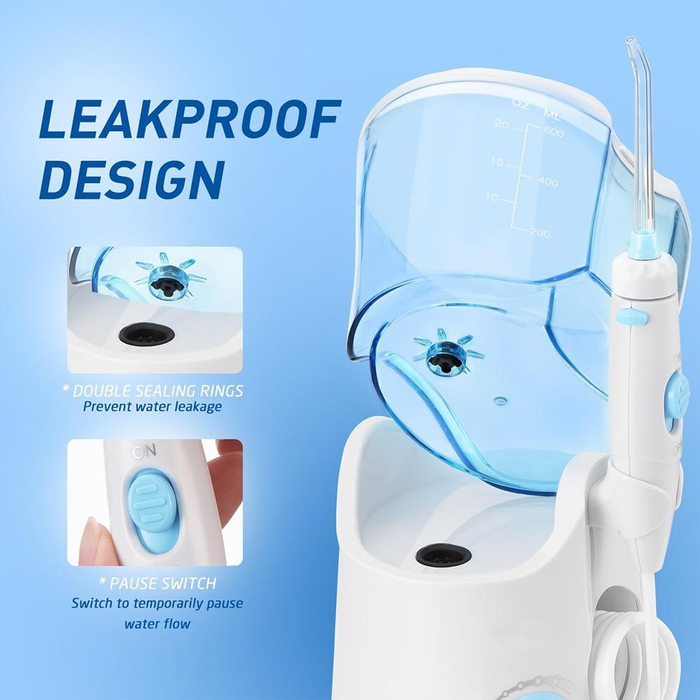 Image 5 - VamsLuna Dental Flosser Oral Irrigator Dental Water Jet Teeth Care Cleaner Oral Hygiene Set 7 Nozzles 600ml Irrigation-in Oral Irrigators from Home Appliances