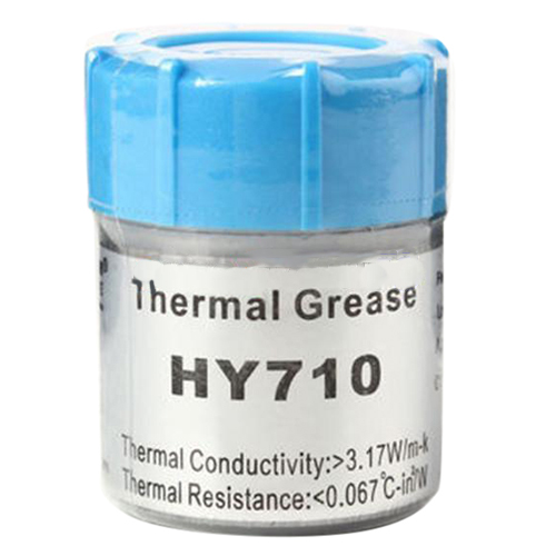 20g Silver Thermal Grease Paste Compound Chipset Cooling For CPU GPU HY710 73w mk grizzly bear liquid metal for thermal grizzly conductonaut 1g diy silicon grease for cpu gpu graphics card easy to cool