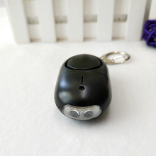 5pcs pack Black color Female Portable Self Defense device personal Security Keychain alarm