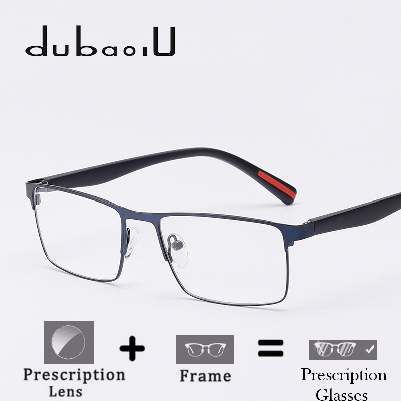 <font><b>Men</b></font> Metal <font><b>Prescription</b></font> <font><b>Glasses</b></font> Clear Optical <font><b>Prescription</b></font> Eyeglasses thin lenses myopia <font><b>progressive</b></font> blue light <font><b>Glasses</b></font>#HQ02-18 image