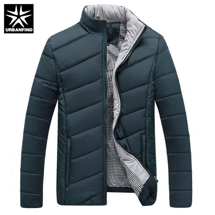 Parkas Urbanfind Herbst Winter Männer Mantel 2018 Neue Design Männer Mode Jacke Plus Größe M-5xl Stehen Kragen Warme Jacke 4 Solide Farben