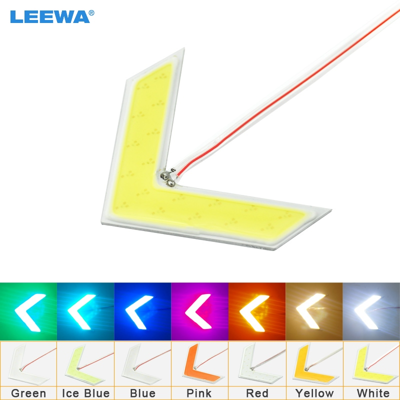 LEEWA 1pc Auto COB 18SMD 18LED Arrows Lamp Indicator Safe led Panels Car Side Mirror Turn Signal Light 7-Color #CA1437 new arrows lamp indicator safe panels car side mirror turn light for ford fusion gt ka kuga maverick mondeo st mustang taurus x