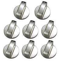 Perillas de estufa de Gas de Metal cepillado interruptor de Control de cocina perillas de horno perilla de hornilla de anafe interruptor de cocina de reemplazo Ac