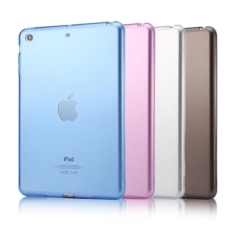 IPad Air 2 pehme kummi kaitseümbris TPU kaitsev nahk Tagakaane silikoon Apple iPad Air 2 jaoks 9.7 ipad 6 tahvelarvutite tarvikute jaoks