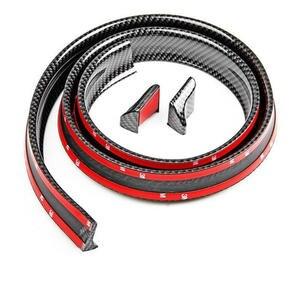 Image 3 - Universal nachahmung Carbon Faser Auto Hinten Dach Spoiler Stamm lip Flügel Auto Boky kit Trim Motor Shields 1,5 meter