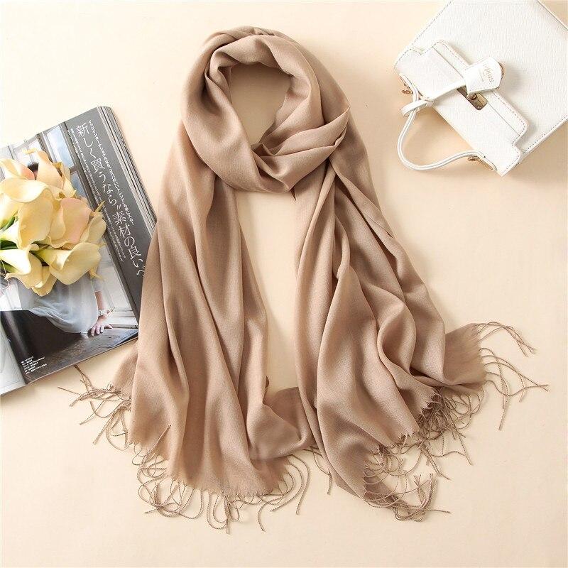 2018 solid color soft women   scarf   cashmere-like   scarves   lady summer thin shawls   wraps   winter pashmina femal hijab headband