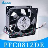 دلتا 8 سنتيمتر 8038 80x80x38 ملليمتر PFC0812DE 12 فولت 3.30A 4-wire 4pin مزدوج الكرة سوبر عالية سرعة تشغيل الرياح القوية مروحة التبريد