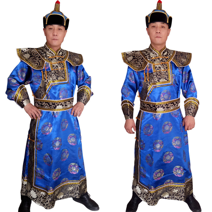 High-grade Mongolian Prince clothing Mongolia national gown robe Costume male clothing for TV moive His Your Royal Highness
