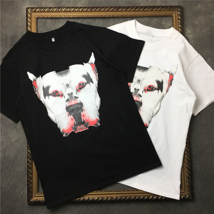 2018 NIEUWE TOP Zomer Marcelo Burlon 3D hondenprint heren t-shirt - Herenkleding