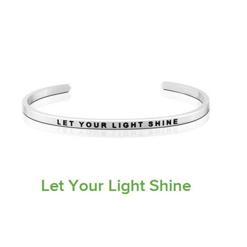 New Stainless Steel Engraved WHAT IF YOU FLY Inspirational Quote Open Cuff Mantra Bracelet Custom Letter Bangle 10pcs lot in Bangles from Jewelry Accessories