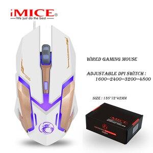 Image 2 - IMICE V6 السلكية الألعاب ماوس usb ماوس بصري 6 أزرار جهاز كمبيوتر شخصي ماوس ألعاب الفئران 4800 ديسيبل متوحد الخواص ل Dota 2 لول لعبة