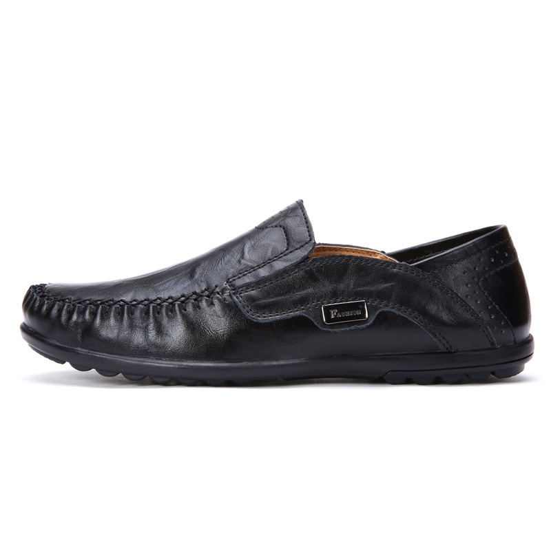 Plus Storlek Män Casual Skor Äkta Läder Moccasin Loafers Designer - Herrskor - Foto 2