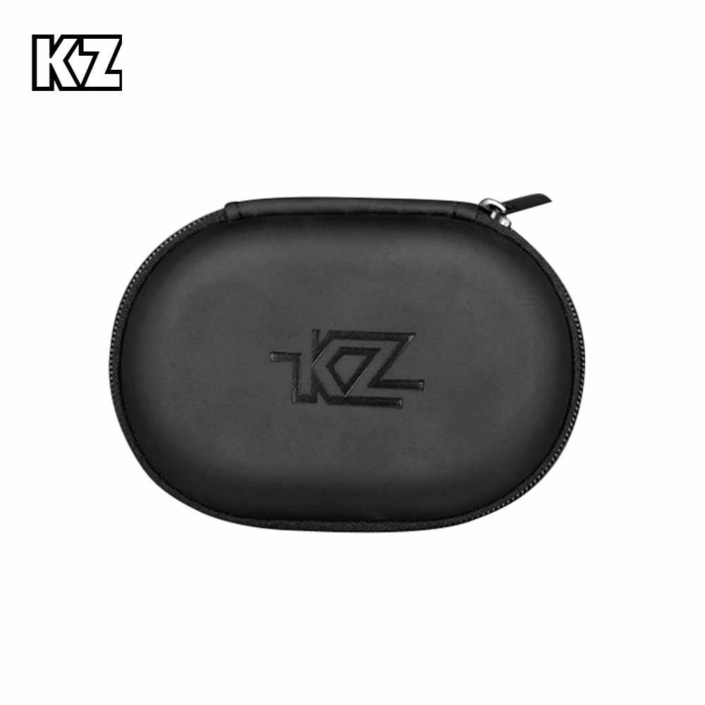 KZ Case Earphone Black Square Type PU Case Earphone Case Bag Portable Absorption Storage Package Headset Earphone