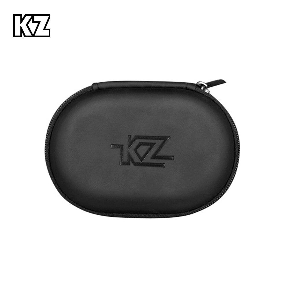 KZ Case Earphone Black Square Type PU Case Earphone Case Bag Portable Absorption Storage Package Headset Earphone