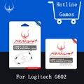 Nível de desempenho hotline games originais pés do mouse mousepad para gaming mouse logitech g602 teflon mouseskate com grátis pinça
