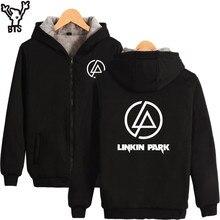 BTS Linkin Park Sweatshirt Männer Reißverschluss Beliebten Günstigen Sänger Rock Mäntel Winter Verärgert Hip Hop Fashion Fans Hoodies Männer Sweatshirt