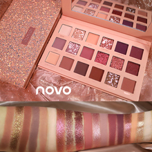 NOVO Matte Pearlescent Radiant Glitter Nude Eye Shadow Palette 18 Colors Shimmer