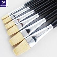 6 шт./компл. памяти кисть для гуаши кисть для масляной краски щетинки кисти для рисования акриловой живописи кисти