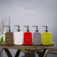 Hand Sanitizer Bottle Fashion Ceramic Quality Bottle Shampoo Shower Gel Sub Bottling
