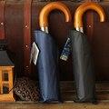 Dry Solid Black Rubber Man Foldable Umbrella Man Use Automatic Sun Umbrella 10 Bone